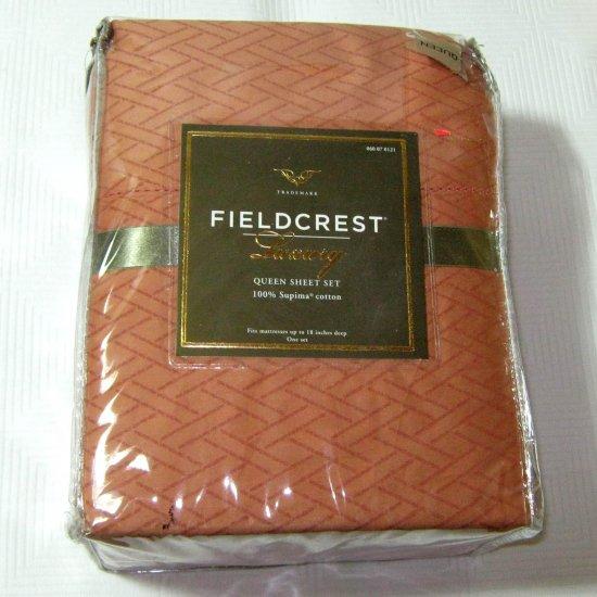Fieldcrest Luxury Target Sheets: Fieldcrest Luxury CORAL 300 TC Queen Supima Sheet Set