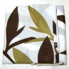 Target iDesign BROWN CELADON LEAVES Fabric Shower Curtain