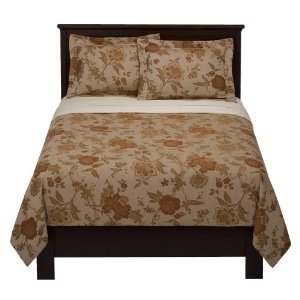 Fieldcrest Luxury Floral Rust King Duvet Brown Comforter Cover