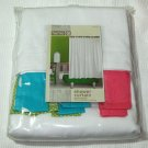 Target Home Pique White Multicolor Tab Top Fabric Shower Curtain