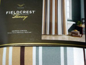 Fieldcrest Luxury Stripe Gray Brown Fabric Shower Curtain Target