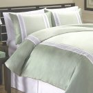 Kohl&#39;s BRISTOL Queen Duvet Set 2 Shams HOTEL by Park Avenue Celery Green