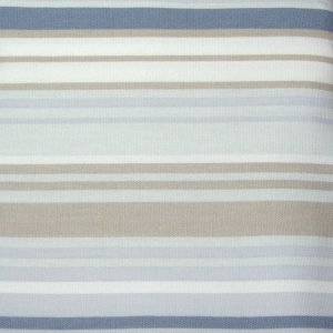 Kohls Free Spirit BLUE TAN STRIPE Shower Curtain
