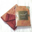 Fieldcrest Luxury CORAL 2 Standard SHAMS Nutmeg