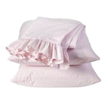 Simply Shabby Chic Pink Ruffle PILLOWCASES Standard Pair Rachel Ashwell Target