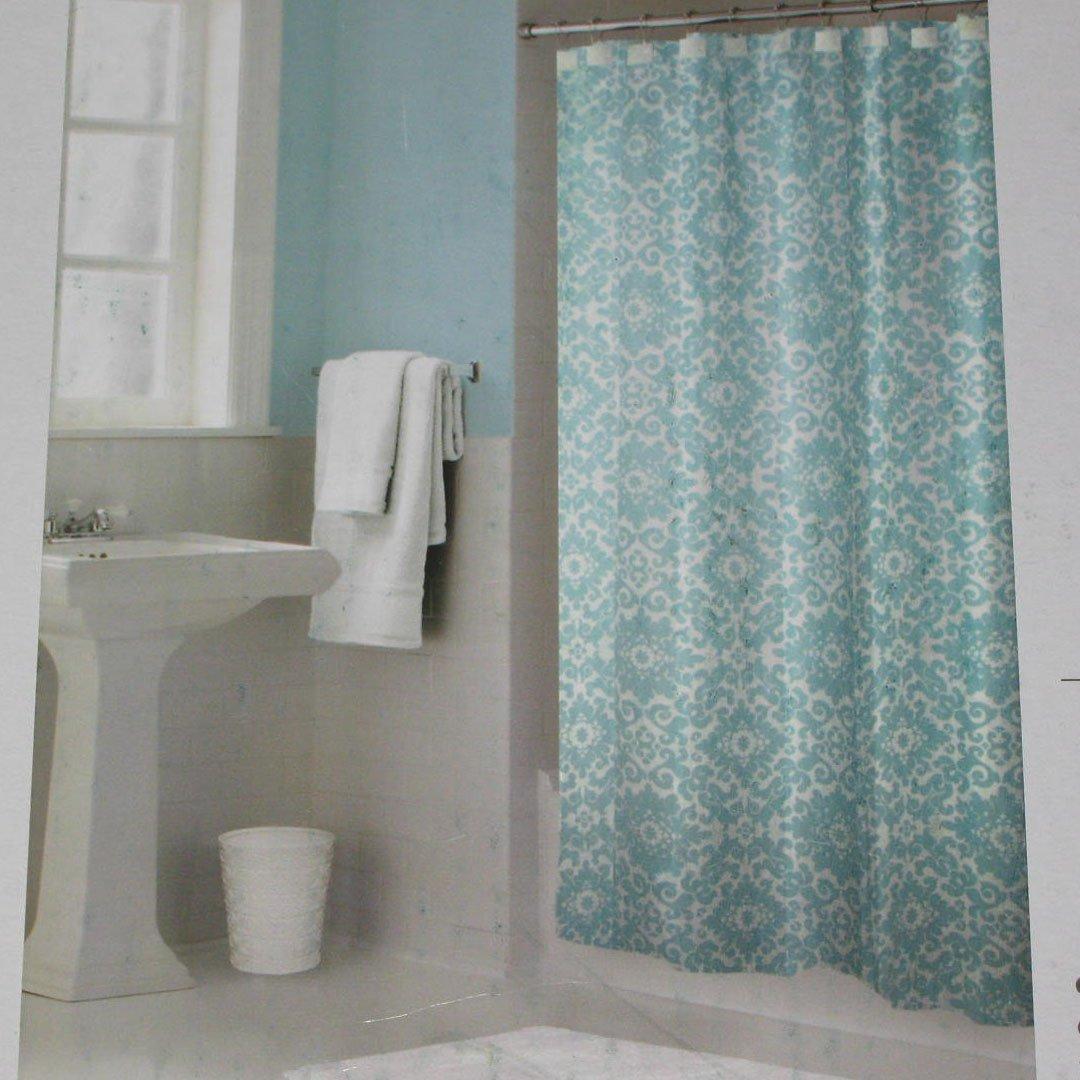 Springmaid LEANDRA Sea Mist Aqua Fabric Shower Curtain Target