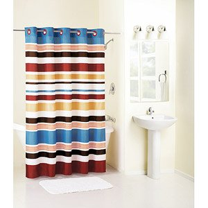 HOOKLESS Century Stripe Red Blue Stripe Fabric Shower CurtainCentury Stripe Red  Blue Stripe Fabric Shower CurtainRed And Blue Shower Curtain  Izod Varsity Stripe Shower Curtain in  . Red And Blue Shower Curtain. Home Design Ideas