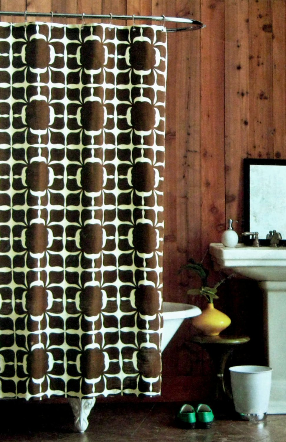 75 brown and cream shower curtain which black and brown sho