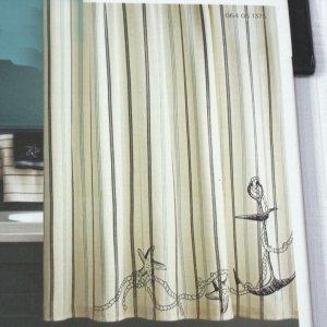 Target Home Coastal Fabric Shower Curtain Nautical Beach Blue Black White Stripe