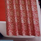Target Home RED JACOBEAN FLORAL Fabric Shower Curtain