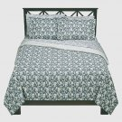 Thomas O&#39;Brien PALE SKY King Duvet 3 pc Set VINTAGE MODERN Grey Blue
