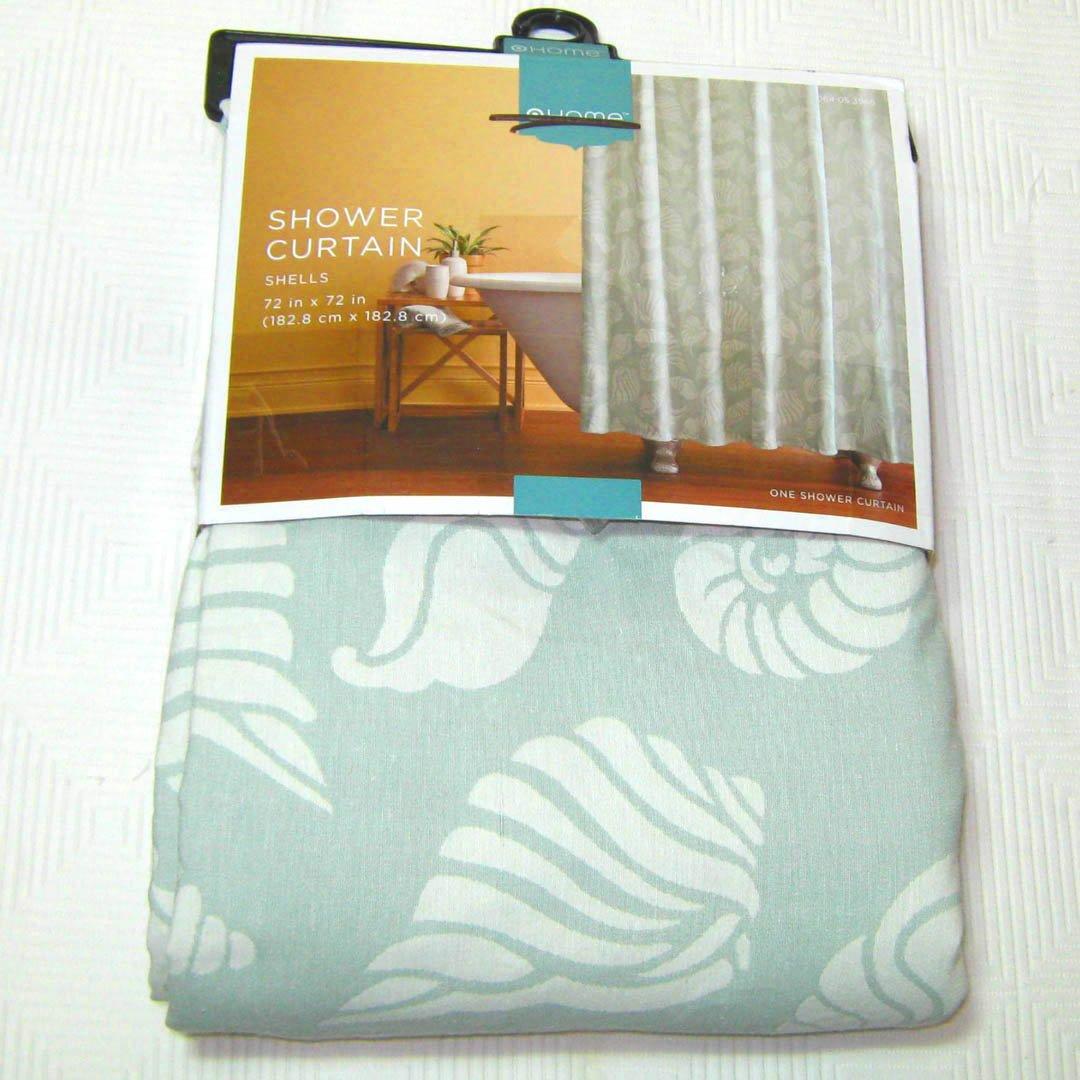 Target Home Shells Jacquard Fabric Shower Curtain Pale Aqua Beach Seashell