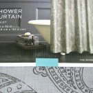 Target Home GRAY PAISLEY Fabric Shower Curtain