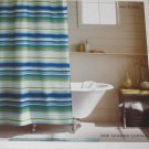 Theshold BLUE GREEN HERRINGBONE Stripe Polyester Fabric Shower Curtain Target