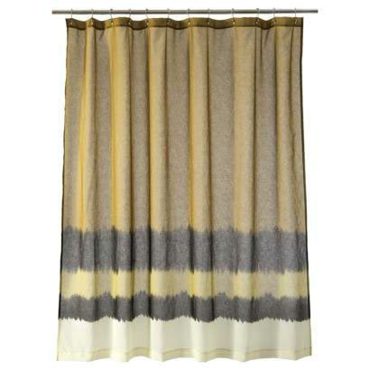 Nate Berkus DIP-DYED  Topaz Fabric Shower Curtain Target