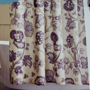 Target Home VINTAGE FLORAL Purple Khaki Fabric Shower Curtain