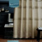 Target Home HEATHER BEIGE LINEN Fabric Shower Curtain Khaki
