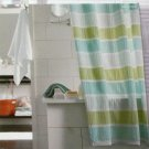 Target SEERSUCKER STRIPE BLUE GREEN Threshold  Fabric Shower Curtain
