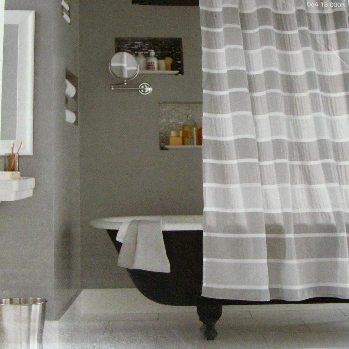 Threshold shower curtain