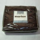 Martex  Full/Queen DAMASK STRIPE Chocolate Brown No-Iron 3 pc Duvet  Set  300 Thread count