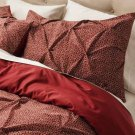 Threshold MICROGEO King SALSA Red Pinched Pleat 3 pc Duvet Set Target