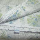 Simply Shabby Chic Blue Patchwork GARDEN STRIPE Twin Set Quilt & Sham Rachel Ashwell Target