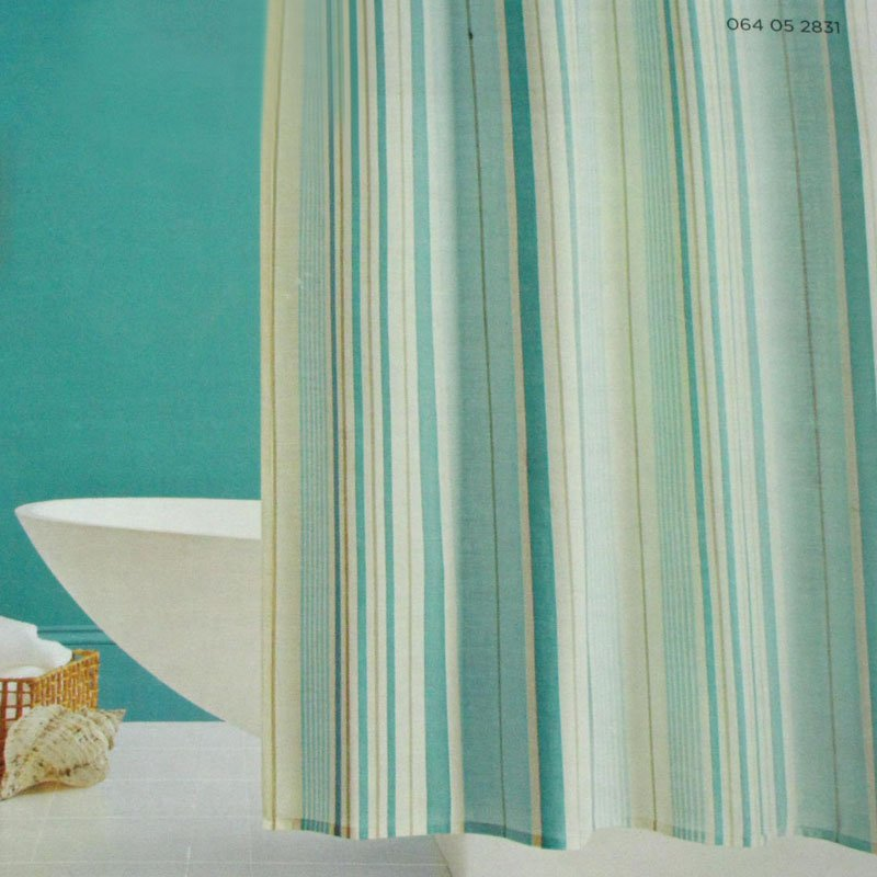 Surprising Teal Striped Shower Curtain Gallery - Exterior ideas 3D ...