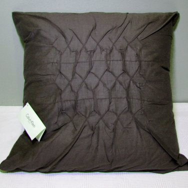 calvin klein jardin gathered diamond rosewood solid throw