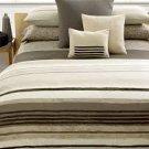 Calvin Klein CORDOBA Queen Comforter Brown Ivory Taupe