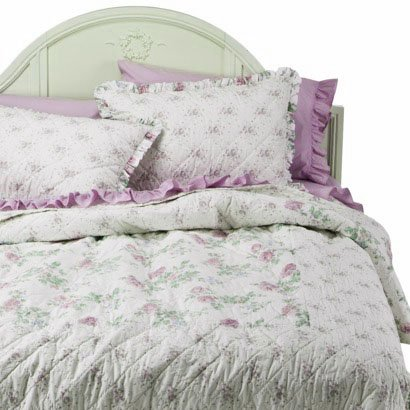 Simply Shabby Chic LAVENDER ROSE King 104 X 92 Quilt
