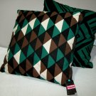 2 Throw Pillows Target PATCH NYC Teal Black Brown