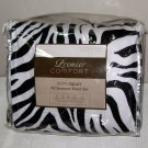 Kohl's PREMIER COMFORT Zebra Queen SOFT SPUN ALL SEASONS Sheet Set Polyester