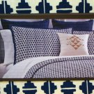 Nate Berkus PARKER King Duvet Cover 3 pc Navy Blue Cream Target
