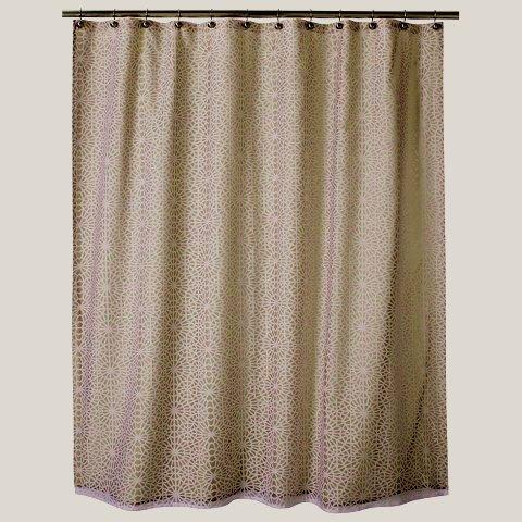 Threshold Geometric Burnout Tan Beige Khaki Fabric Shower Curtain Target