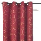 Target Home RED CIRCLES Jacquard TWO Window Panels ONE PAIR 54 X 84 Grommet Curtains