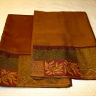 Croscill Home GALLERIA 2  Pillowcases Brown Red Green 300 tc