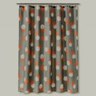 Room Essentials DOTS Orange Gray Khaki Fabric Shower Curtain Target