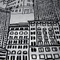 Room Essentials CITY SKETCH Black White Fabric Shower Curtain Target