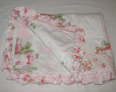 ONE Simply Shabby Chic MAYBERRY ROSE Pink Coral Green Standard