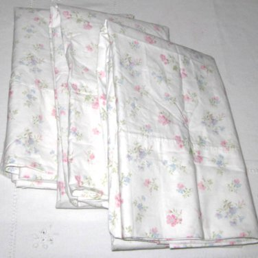 CANDY FLORAL King Pillowcase Simply Shabby Chic Pink Blue