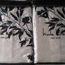 Nicole Miller Modern Romance Standard Pillow Shams Ivory Satin Embroidery New