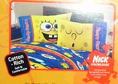 Nickelodeon SpongeBob Squarepants Reversible Pillowcase Standard Size New