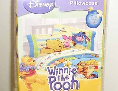 Disney Pooh & Friend Reversible Pillowcase Standard Size New