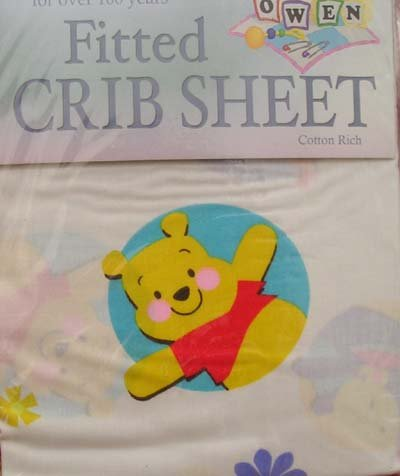 Disney Winnie the Pooh Crib Fitted Sheet New