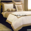 HOTEL Color Block Duvet Set 600 TC King/CAL King Duvet Set 3pc new