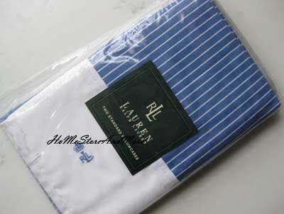 Ralph Lauren Socialite Stripe Standard Pillowcases New