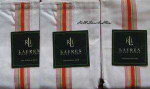3 Ralph Lauren Harbor View White Euro Pillow Shams New