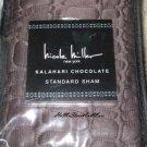 Nicole Miller Kalahari Chocolate Standard Sham New