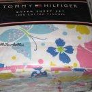 Tommy Hilfiger Malibu Yellow Twin Flannel Sheet Set New