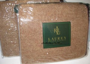 Ralph Lauren Brittany King Pillow Shams New